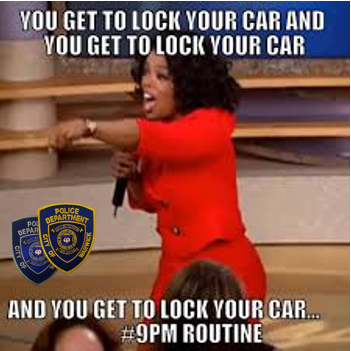 Everybody gets to lock their doors! #9PMRoutine