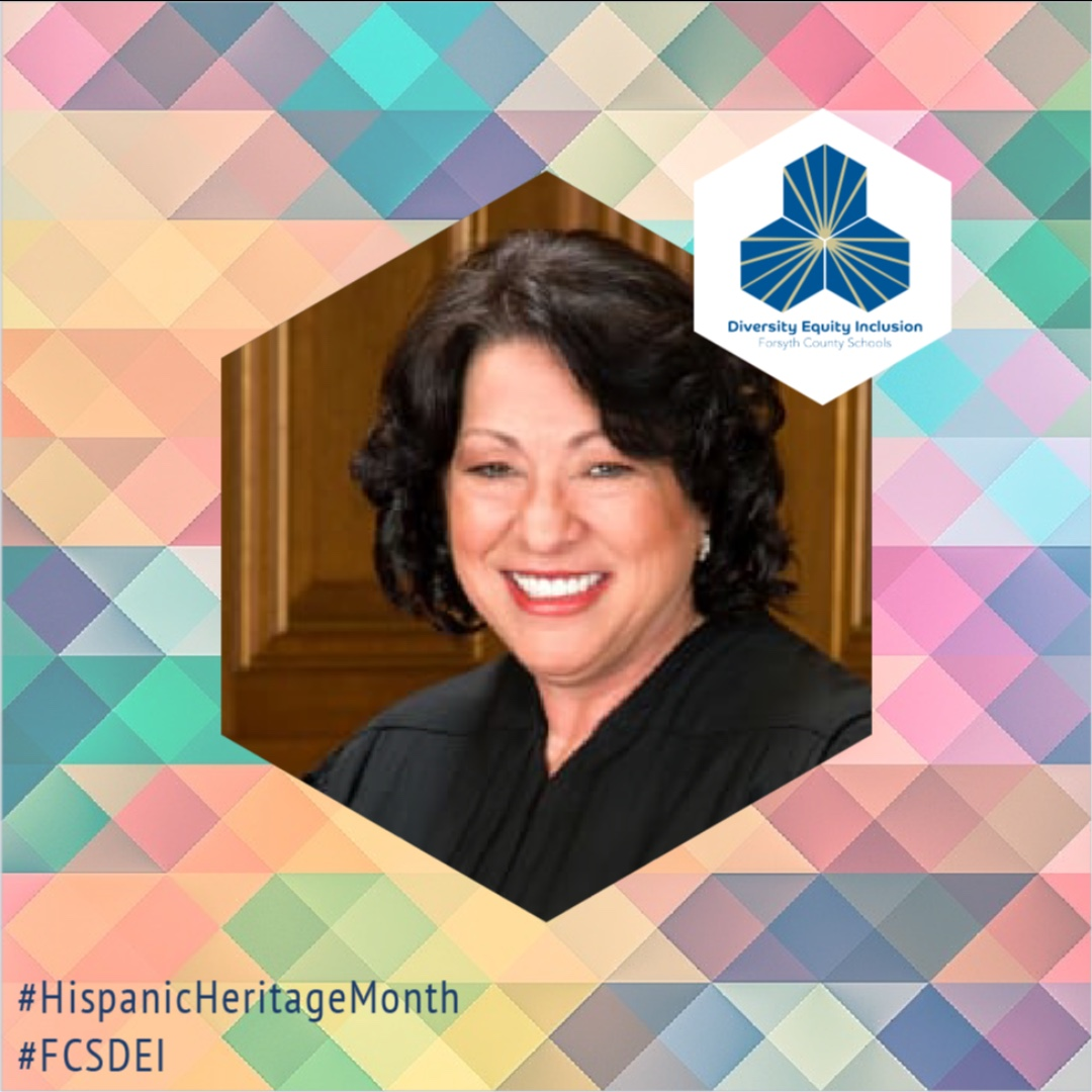 Nominated by President Barack Obama in 2009, Sonia Sotomayor became the first Latina Supreme Court Justice in U.S. history. Learn more at  #HispanicHeritageMonth #FCSDEI
