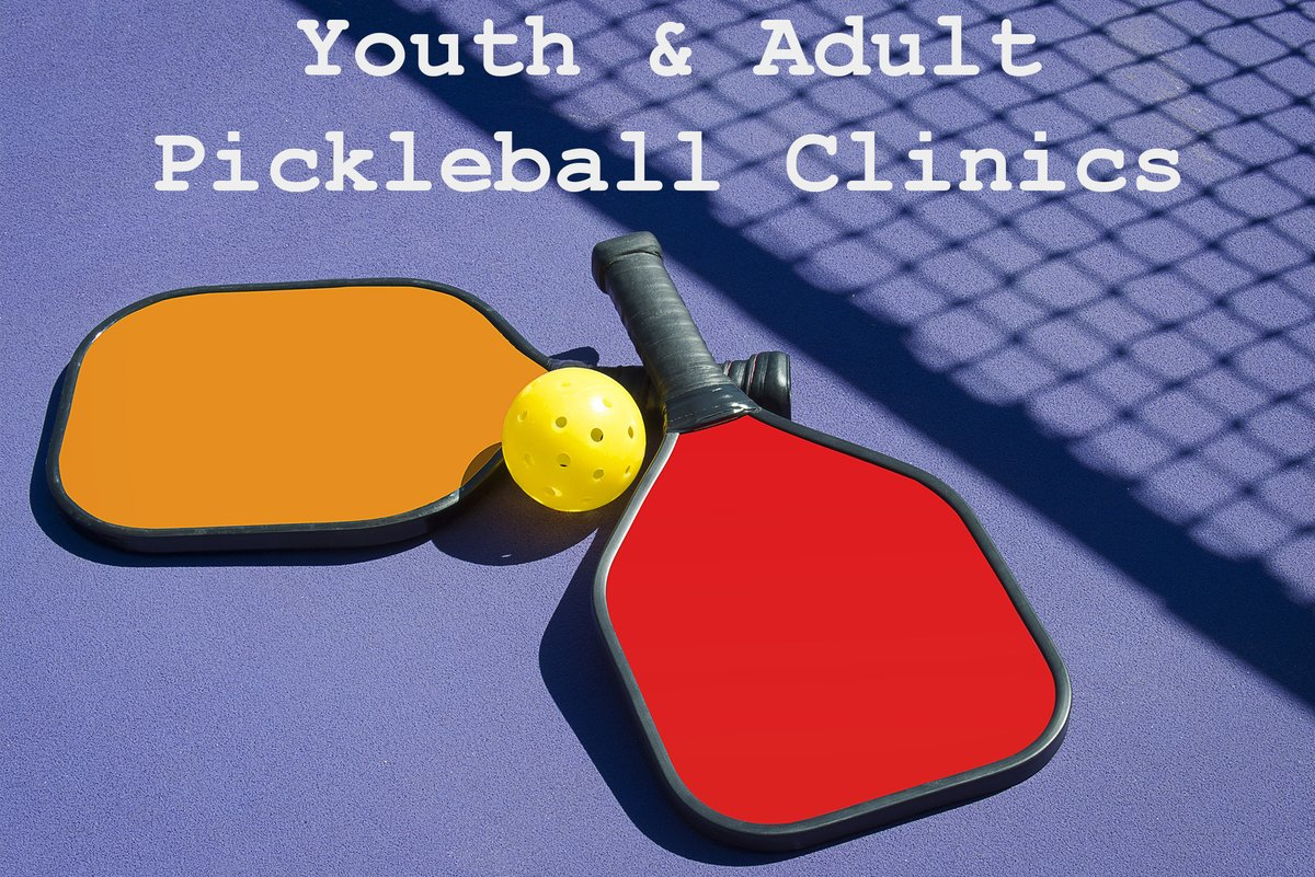 Registration for all Pickleball Clinics close today at 3:30! Don't miss out on learning about the fastest growing sport in the US! Call 524-2424 or visit  Youth: 9/26 or 9/27, 10:15am-12:15pm Youth: 9/29, 6-8pm Adult: 9/26 or 9/27, 8-10am Adult: 9/28, 6-8pm