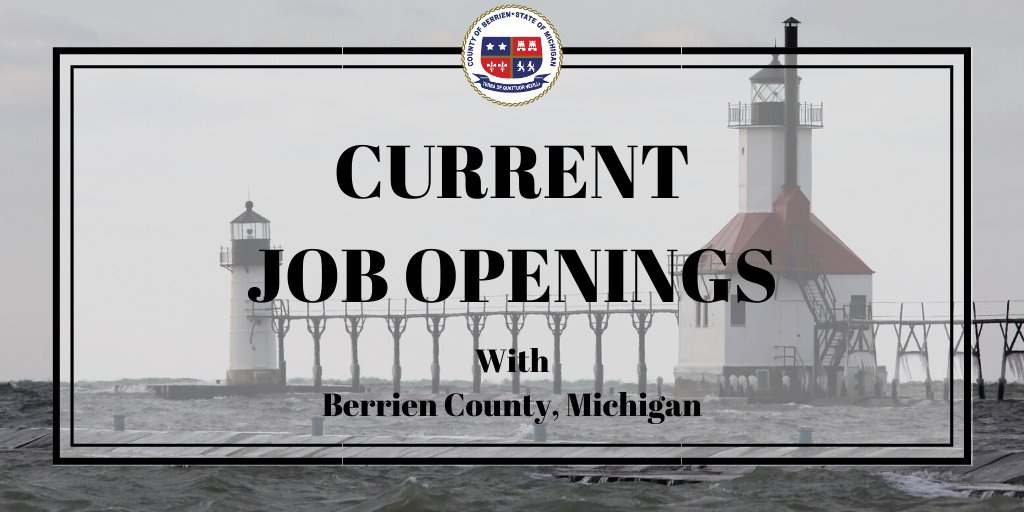 This Week's Current Job Openings In the County of Berrien for the week of September 21st – 25th, 2020. Visit our website to view full job posting:   #NowHiring #Hiring #HelpWanted #Employment #Jobs #Job #Careers