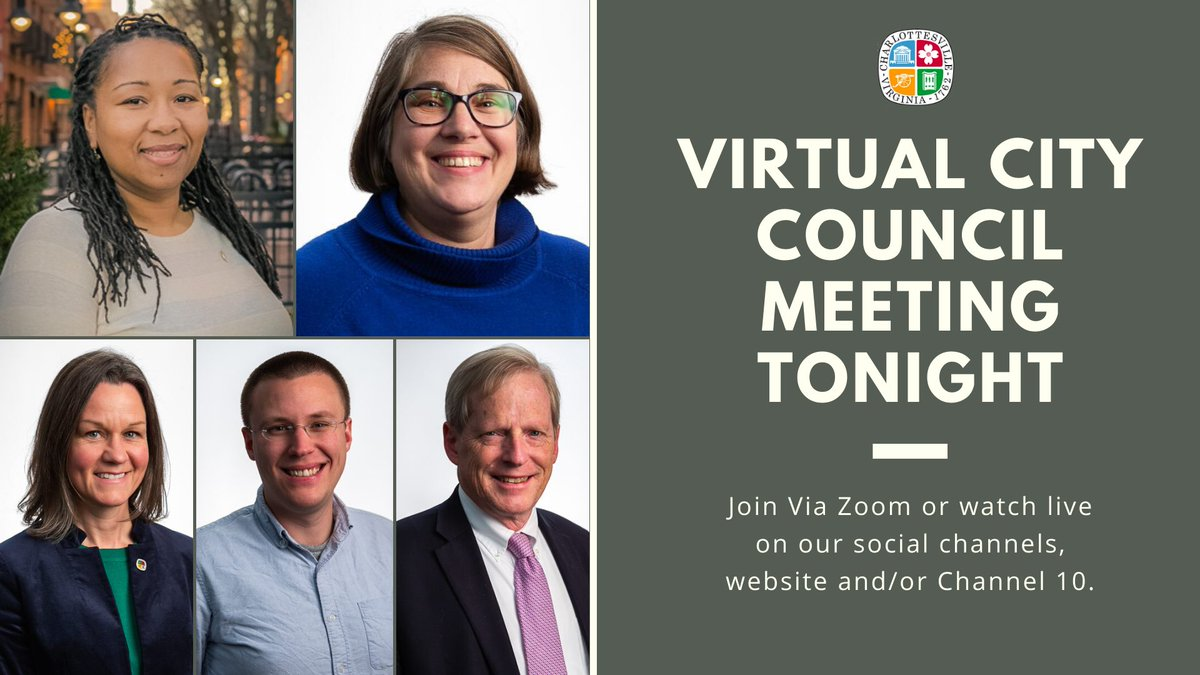 City Council Meeting tonight at 6:30pm. Register via Zoom here:  Meeting Agenda: