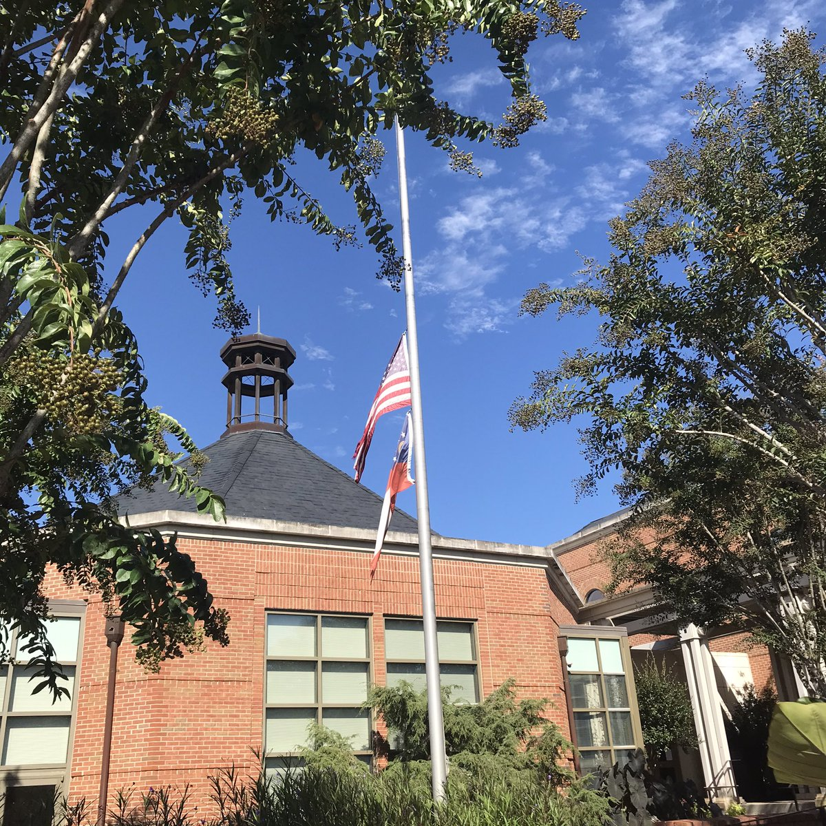 Our flags at Newnan City Hall will fly half-staff in honor and memory of The Honorable Ruth Bader Ginsburg, Associate Justice of the Supreme Court of the United States.