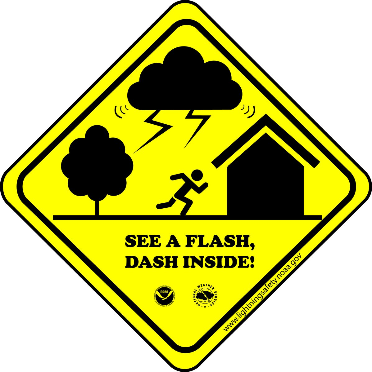 Lightning can strike 10-15 miles from a thunderstorm. Don't wait for rain to send you running indoors.