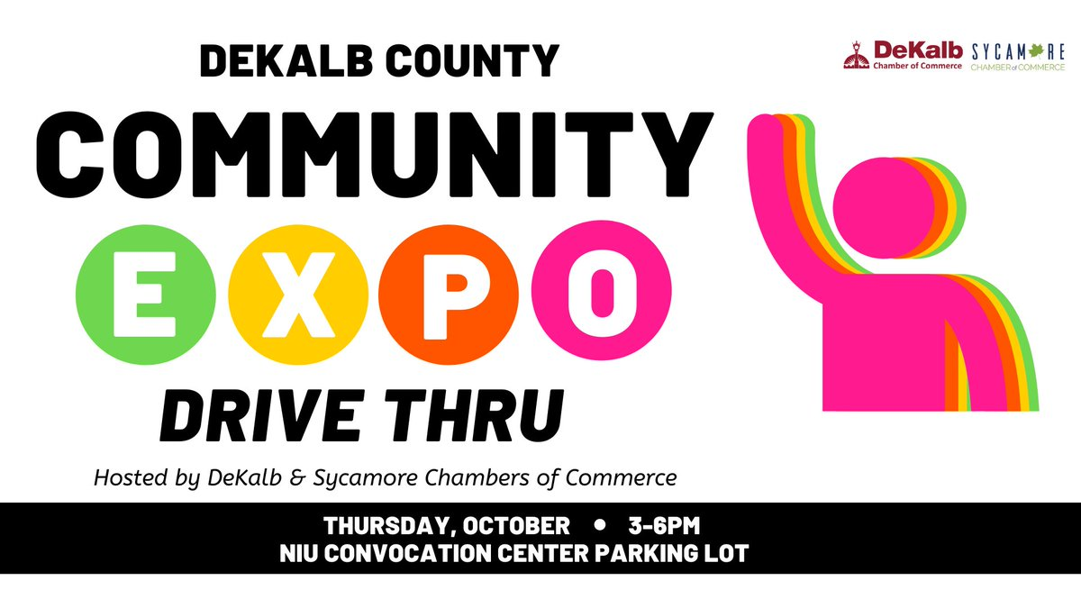 We're looking forward to seeing you and 40+ local businesses at the Community Expo Drive Thru happening NEXT Thursday, October 1st from 3-6PM at the NIU Convocation Center. Free to attend and socially distanced! More info at .
