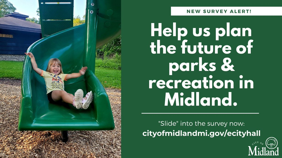 SURVEY ALERT: With the @MidlandParksRec 5-year plan in progress, we need YOU to tell us what you love, want, or need from our parks & amenities.   Take the quick 10-minute survey here: .