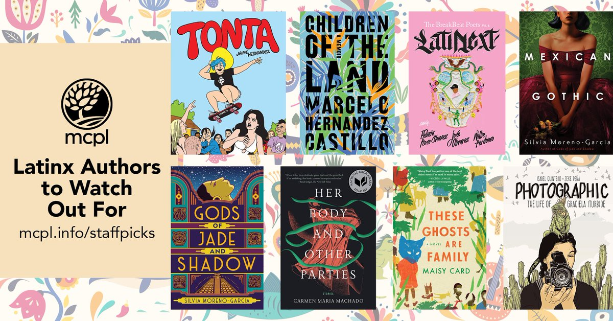 Here are some contemporary Latinx authors that we think you should check out! This list includes fiction and nonfiction titles, as well as titles in multiple formats, including digital. #LatinxHeritageMonth 📚