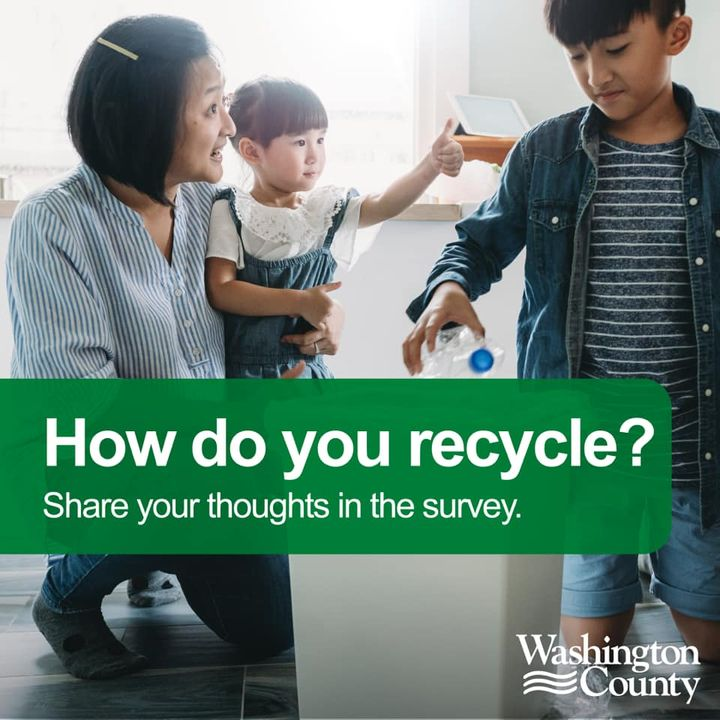 Help Washington County recycle better! Complete this survey by October 2 for a chance to win a $25 Amazon gift card!