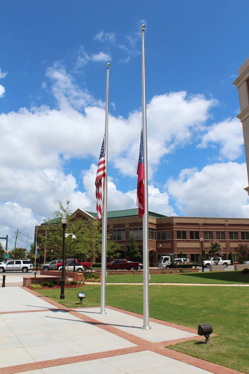 The flag of the U.S. & the Georgia flag at County government facilities will fly at half-staff in honor of & to recognize the passing of Associate Justice of the U.S. Supreme Court Ruth Bader Ginsberg. Flags will fly at half-staff from now until the date of her interment.