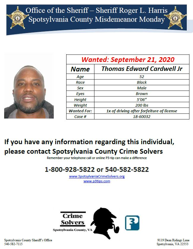 If you have any information, please contact our Crime Solvers!