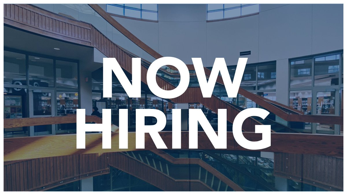 Want to support our core values of accessibility, civil discourse, inclusiveness, integrity, intellectual freedom, lifelong learning, literacy, respect, safety, service, and stewardship? We're hiring a full-time Access & Content Manager!