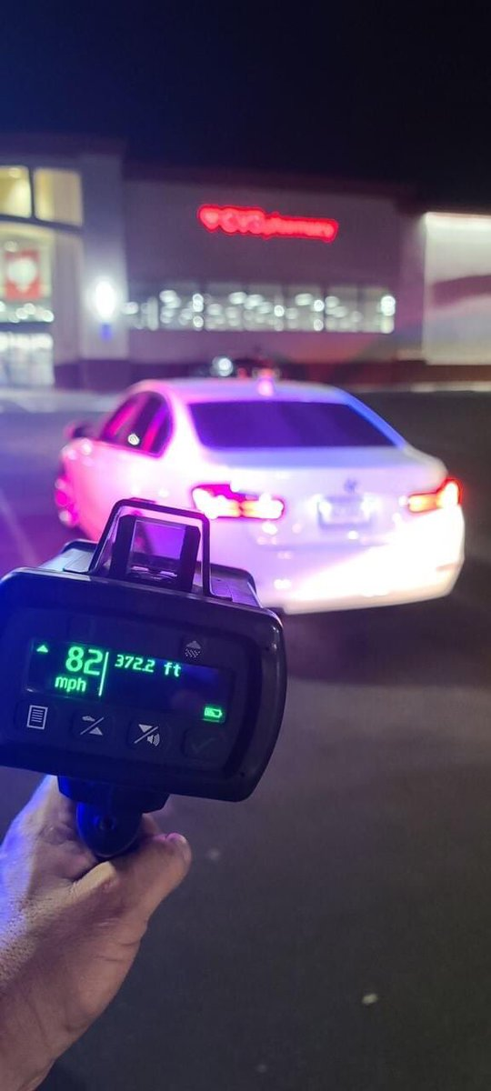 SLOW DOWN MERCED!  Officer Mckeeman made and enforcement stop on vehicle over the weekend for traveling 82 MPH on Olive Ave.! The Merced Police Department would like to remind everyone to slow down and arrive at your destination safely. #slowdown #drivesafe