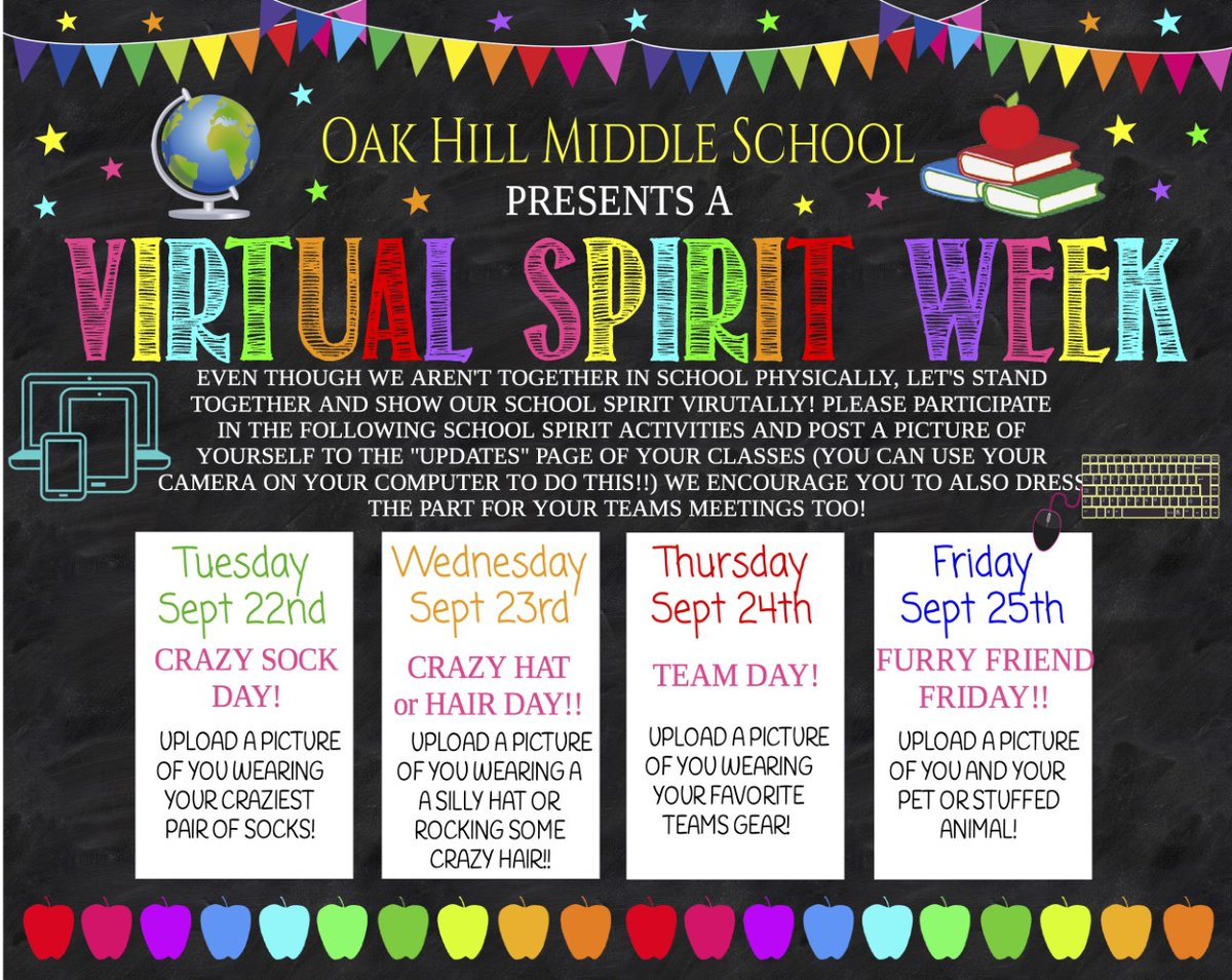 OHMS is having a virtual spirit week. So proud of our schools embracing our students during remote learning. #FayetteBridgeToSuccess