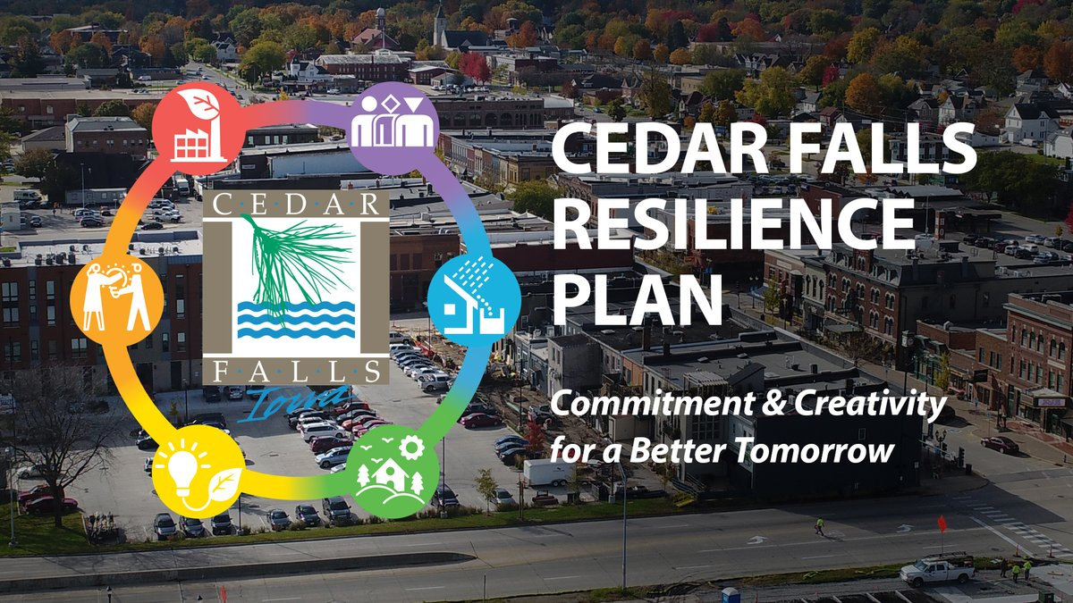 Develop solutions to improve the quality of life in our community during the #CedarFalls Resilience Plan virtual workshops starting Oct. 20 with an online public survey opening Sept. 22!   Learn more and find out how you can get involved at  .