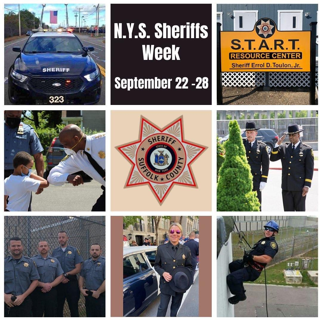 Gov. Cuomo has proclaimed Sept. 22-28 Sheriffs Week in NYS. Sheriffs Week celebrates the significant contributions made by the Office of Sheriff in county government and the statewide criminal justice system. We'll be highlighting some of our work and responsibilities this week.