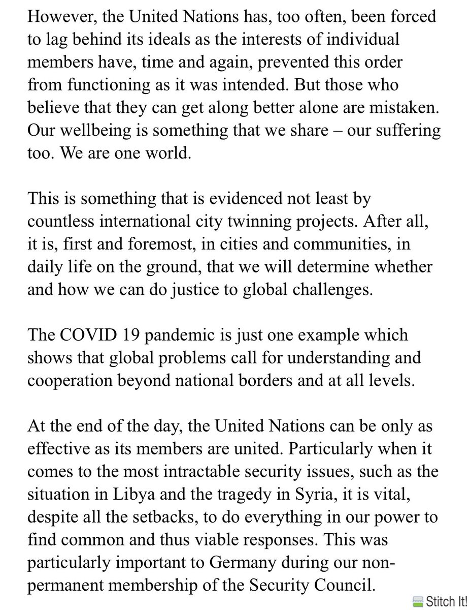 test Twitter Media - Excerpt from German Chancellor Angela Merkel's speech to the #UNGA75 commemorative event.  #sabcnews https://t.co/z5HN6VTvHr