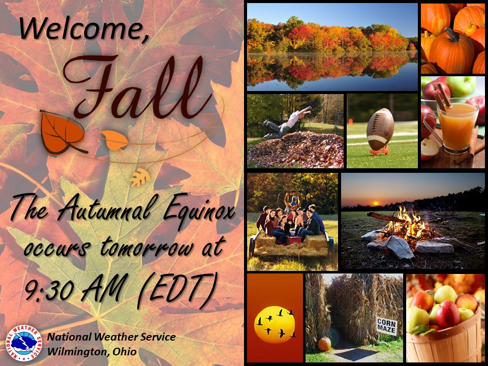 Well, it's that time of the year! Time for pumpkins, vibrant foliage colors, campfires, and most importantly -- preparing for autumn weather hazards by visiting our safety website for tips and guidance! .