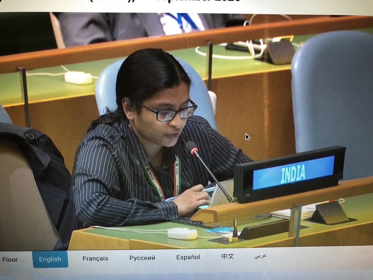 test Twitter Media - First Secretary ⁦@IndiaUNNewYork⁩ Vidisha Maitra gives India's Right of Reply after Pak FM ⁦@SMQureshiPTI⁩ rakes up issue of Jammu and Kashmir in his address to #UN75. ⁦@PTI_News⁩ ⁦@MEAIndia⁩ https://t.co/Hrb0g8p1TQ