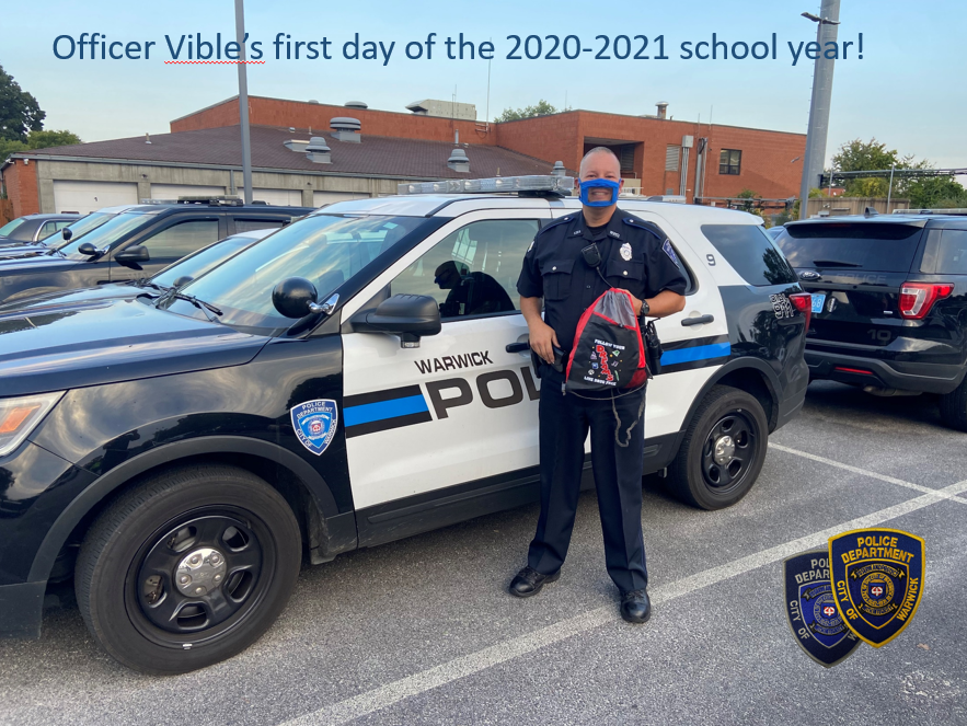 School Resource Officer Vible could hardly wait to finally get back to in person learning.  Let's all wish him and the students attending Toll Gate High School a safe healthy and education filled school year!