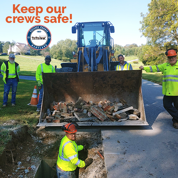 Make driving safely a priority when passing through the county's  active road construction and maintenance work zones.