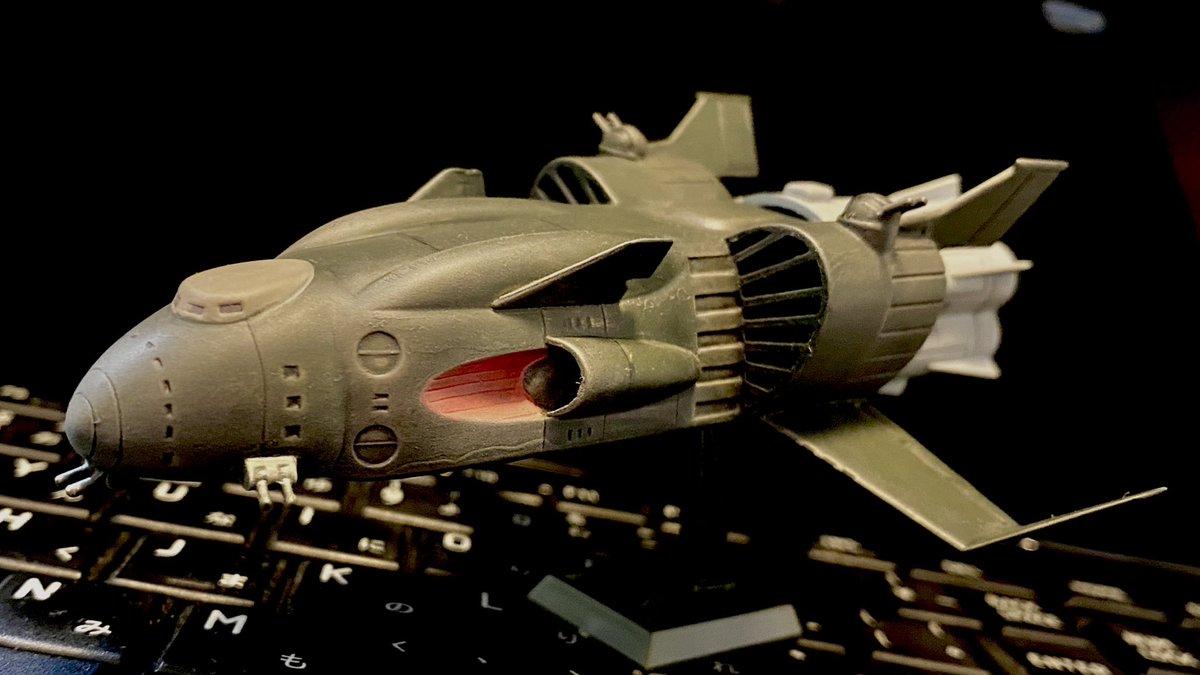 test ツイッターメディア - バンダイのジオン軍機動巡洋艦ザンジバル(1/2400)です。旧キットが模型店の棚に沢山並んでいるのを見るのは、小子どもの頃以来でした。コロナ禍の異常な状況でしたが、そこだけは妙に懐かしい風景でした。組立ではパテ盛りとペーパーがけの繰返しが1週間くらい続き、この点も懐かしいポイントでした。 https://t.co/6vsydaFz1Y