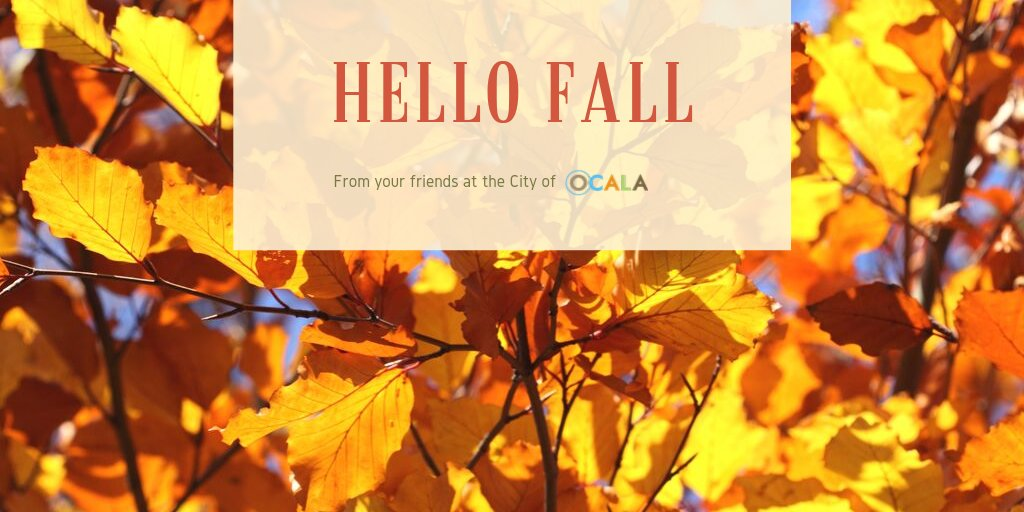 Today marks the first official day of #Fall. We've enjoyed some beautiful #Ocala weather the past few days (let's hope it stays for a little while). 🍁