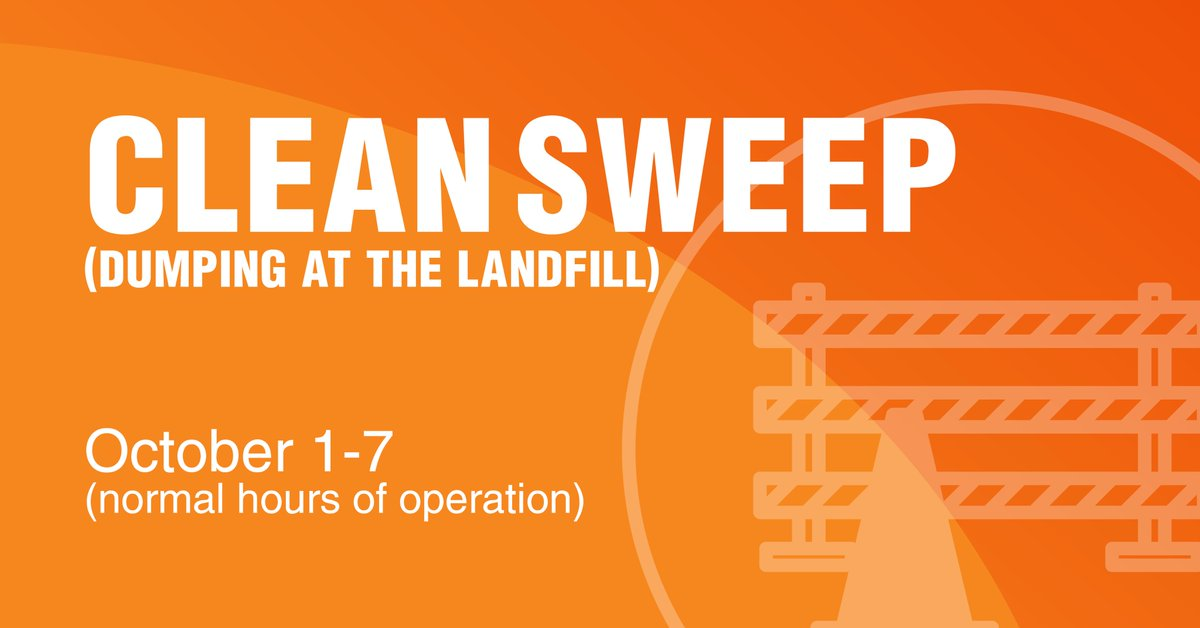 Mark your calendars for the upcoming Clean Sweep October 1-7. Clean Sweep is a program to assist residents in maintaining their property, however, it is not a substitute for regular solid waste collection. For restrictions and guidelines, please visit .