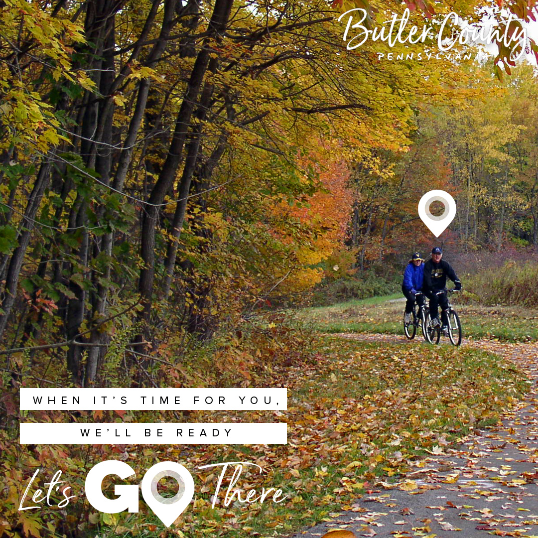 It's officially Autumn!  The air is getting crisp and the leaves are starting to turn.  Moraine State Park is a great place to see the changing colors. We love the various views from the bike trail.    #LetsMakePlans #ButlerCountyExploreMore #butlercountypa #morainestatepark