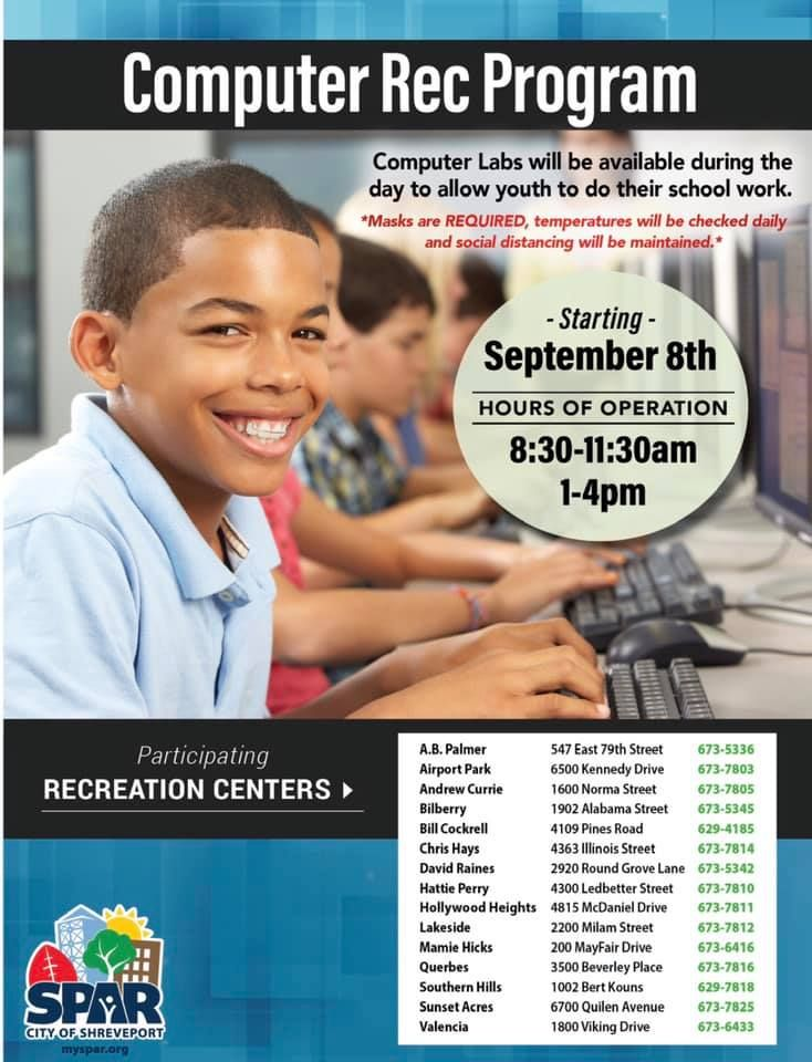 The Computer Rec Program by SPAR  is a great resource for our students. Please share.