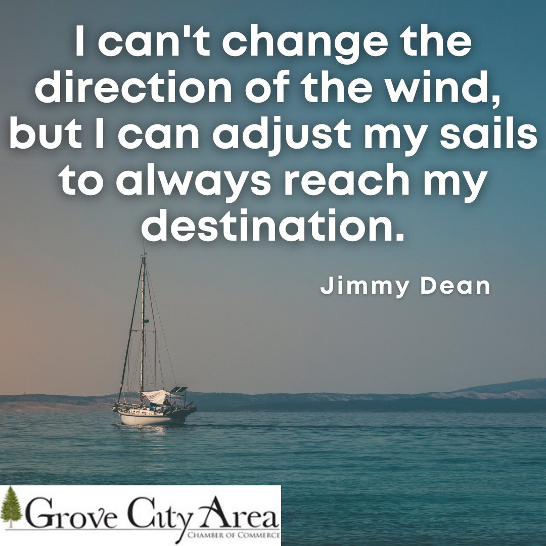 This week's #PositivityTuesday quote serves as a reminder that we can't always be in control of what is going on around us, but we can determine how we move forward and adjust to changes so that we can still reach our goals.
