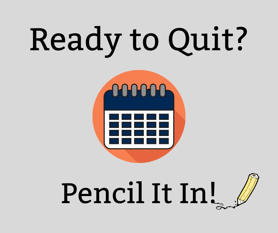 Ready to quit? Pencil it in! Planning out key steps can help you make your quit a reality. SmokefreeUS has a tool to help: