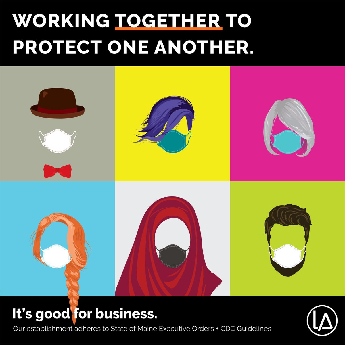 To help local businesses keep their doors open, the Cities of Auburn & Lewiston have partnered with the L-A Metropolitan Chamber of Commerce. We are all working together to protect one another. So, mask up, Auburn. It's good for business! @LewistonMeGov @LAMetroChamber
