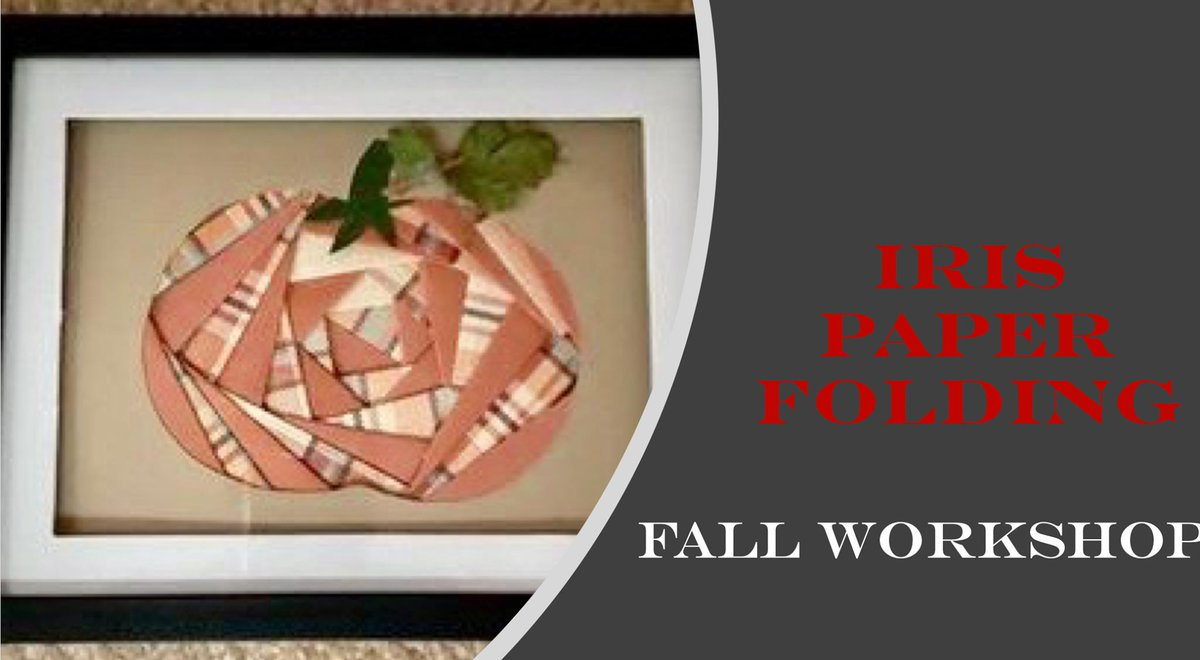 Join Susan Shea at Picture This, Today, Sept 22nd from 5:30-7:30 to make is 5 x7 Framed Iris paper folding pumpkin.  $15 per person Various papers will be offered to choose from. please text 740 703-5050 to reserve your seat.