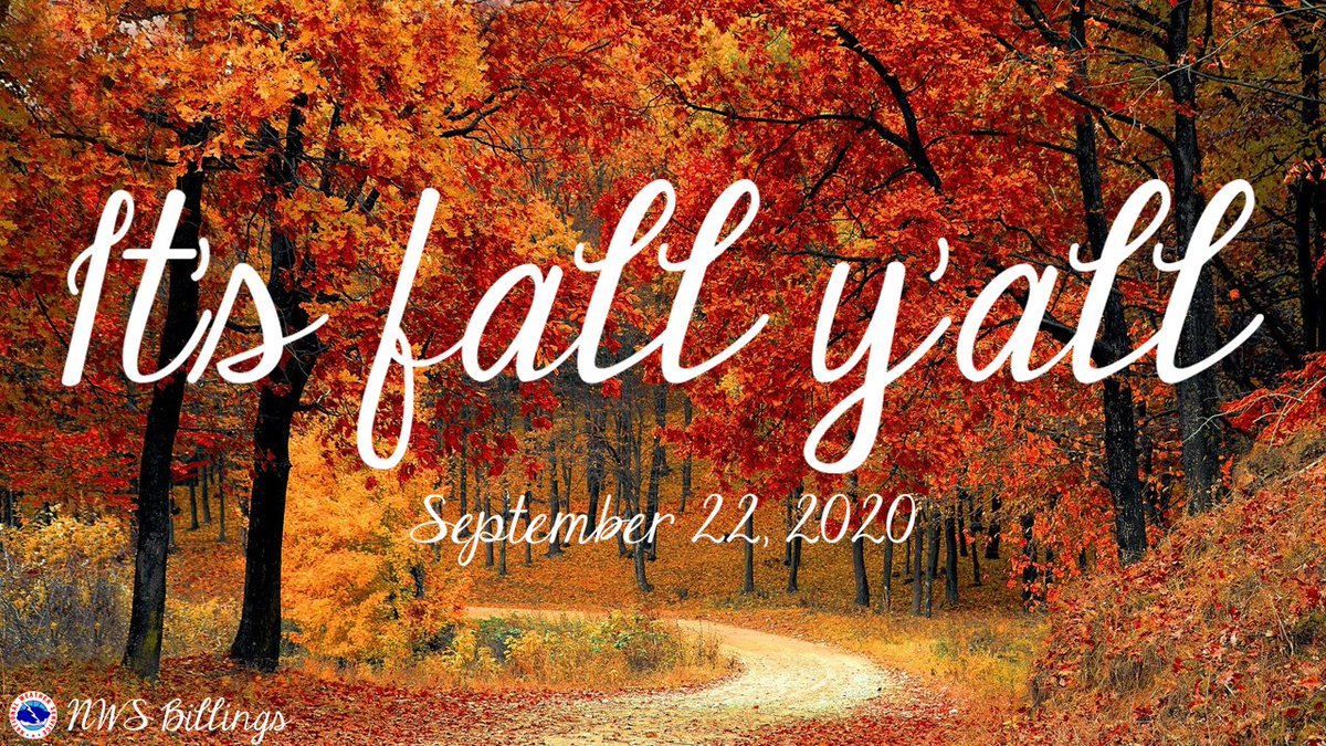 Wrap yourself in a warm scarf, bake a pie, and pick out the perfect pumpkin because fall is finally here! 🍂  What's your favorite part about fall? ☺️ #fall #fallweather #mtwx #wywx #ItsFallYall