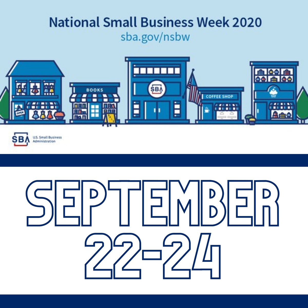 It is National Small Business Week and we are celebrating all week long! It is more important now than ever to support our small, local businesses so stay tuned to see how you can get involved!!