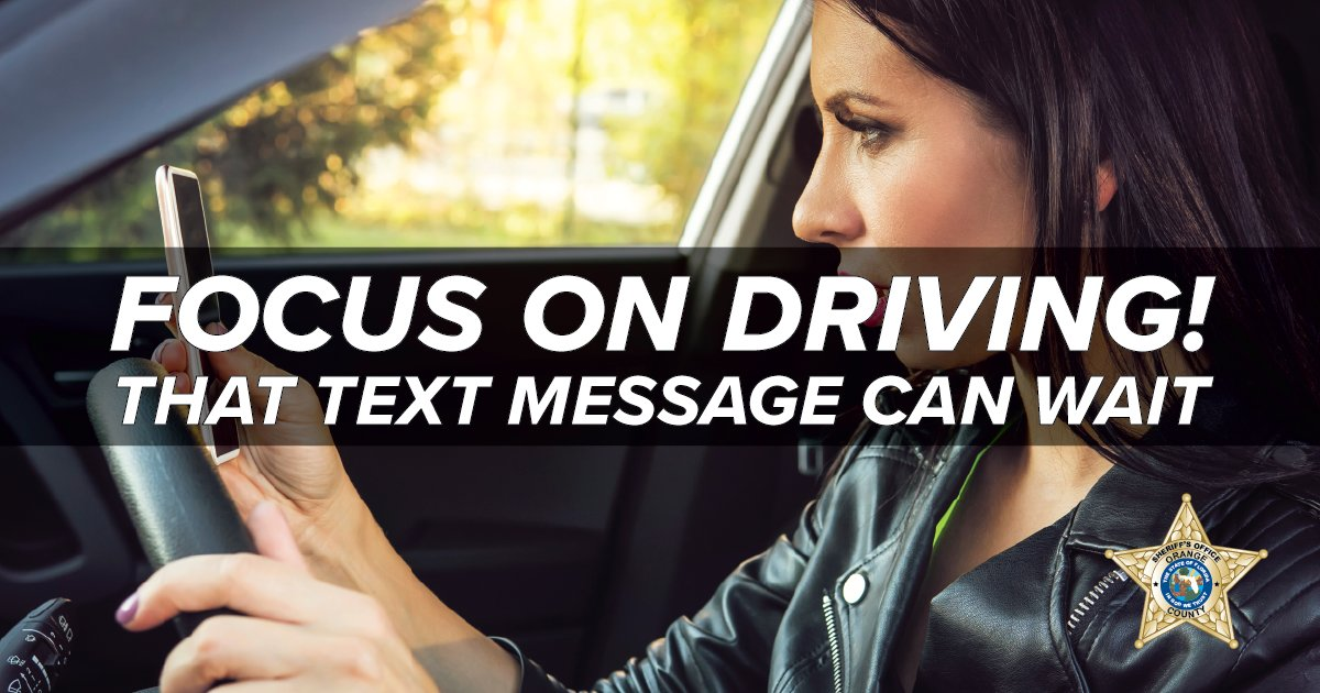The text message can wait.  The phone call can wait.  Focus on the roadway so you can get to your destination safely.