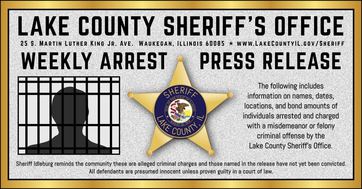 **Sheriff's Office Weekly Arrest Summary** September 14 – September 20, 2020