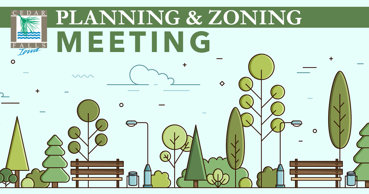 To help prevent the spread of COVID-19, the Cedar Falls Planning and Zoning Commission Meeting on September 23 at 5:30 p.m. will be held via videoconference. Visit  for meeting access information. #cedarfalls