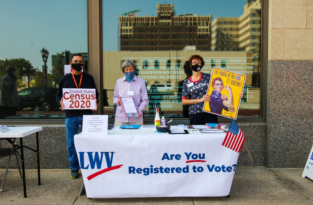 It's #NationalVoterRegistrationDay, Amarillo!   The Amarillo League of Women Voters is set up around Amarillo to help YOU register! Find them at the Santa Fe Building from 10 a.m. to 1 p.m.   #amarillo #texas #VoterRegistrationDay