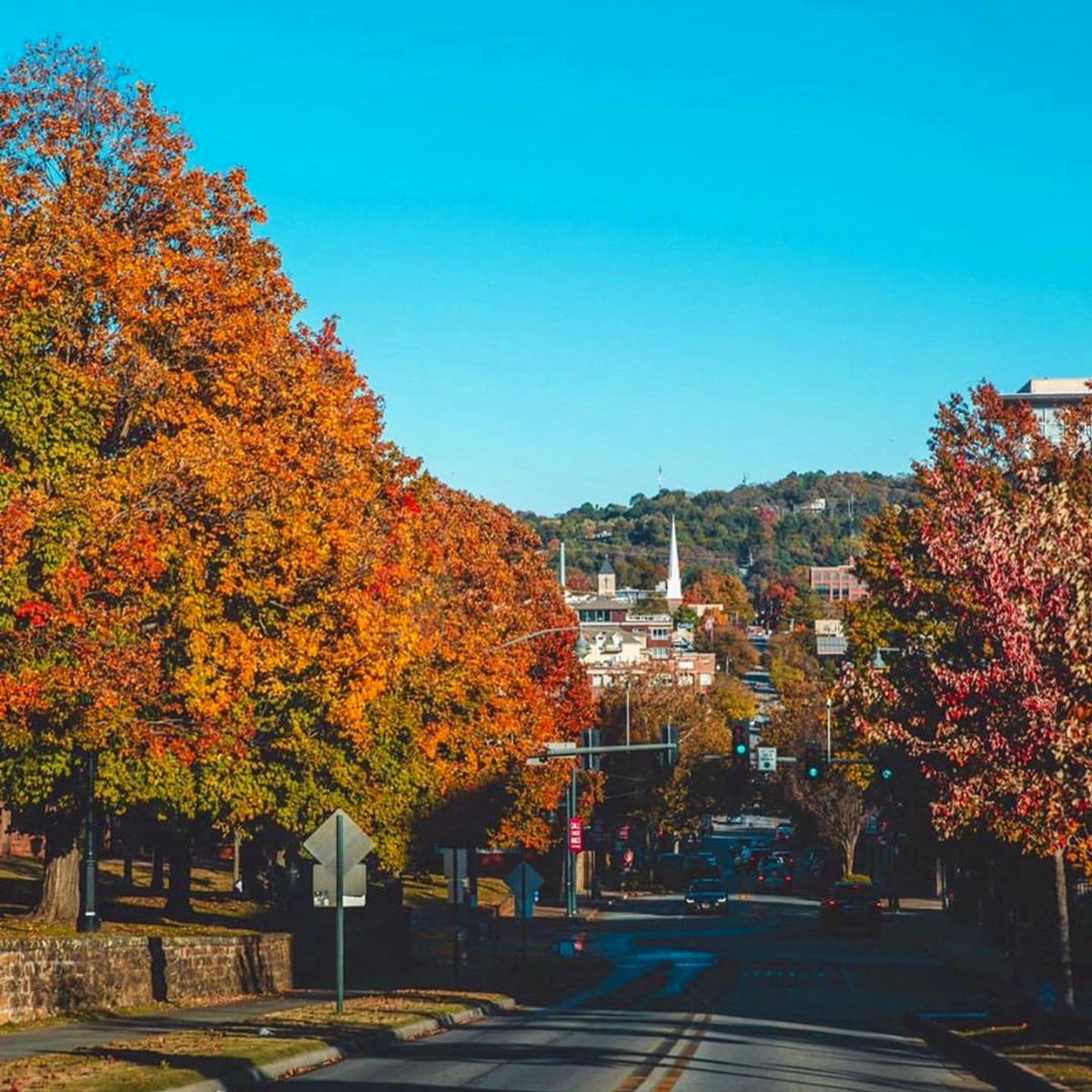 Happy First Day of Fall from Fayetteville! 🙌🍂🌾🍁🌻  Keep your eyes open and plan that trip for leaf peeping season in the ozark mountains. Usually the last week of October and first week of November are peak fall color times.