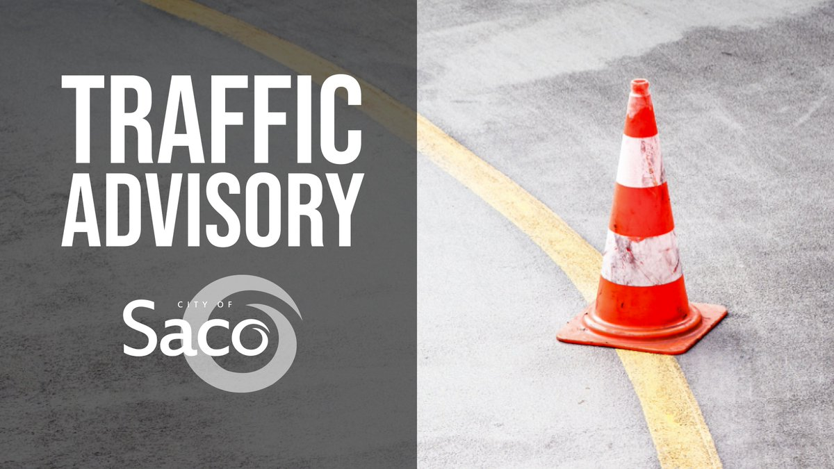 Paving Notice: More paving projects are happening in Saco this week. Paving will occur on Lafayette Street and May Street today, followed by Hobson Lane and South Street on Wednesday, September 23rd. Please use an alternate route if possible to avoid delays.
