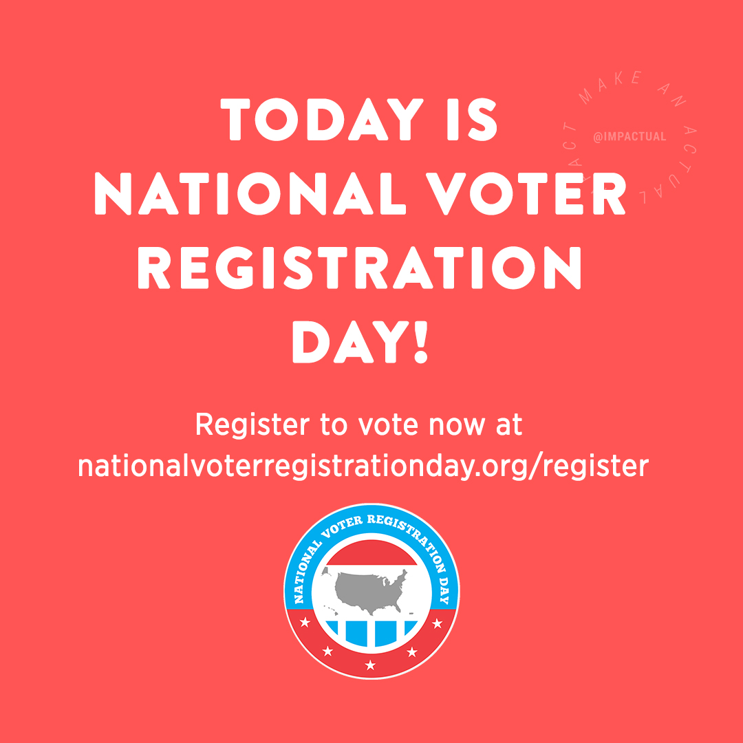 It takes two minutes to register to vote. Do it today at   Visit the Alamance Board of Elections website for info on early voting and how to find your polling place at  #NationalVoterRegistrationDay