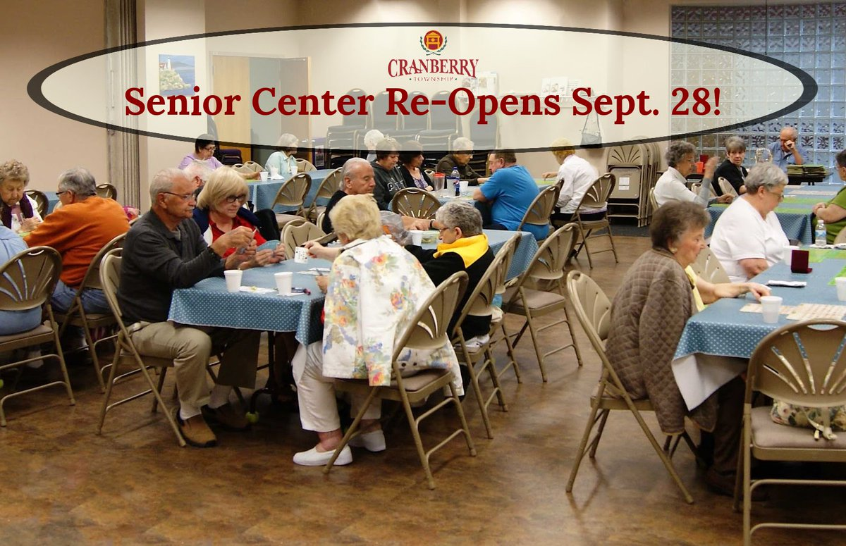 The Senior Center in the Cranberry Township Municipal Center will welcome guests again beginning Monday, September 28 with protocols in place. Read more: