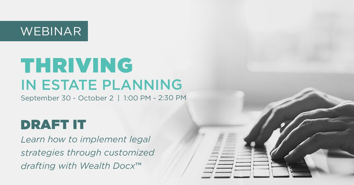 test Twitter Media - Wondering how you are going to navigate #estateplanning during #Election2020? Then you are going to want to register for our three-day Thriving event now!  Here's the info on Day 2 - get the full rundown right here: https://t.co/00fNZIGa2D #financialplanning #wealthcounsel https://t.co/IxZFvtfFMs