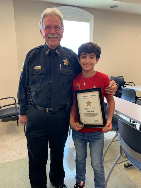 The Sheriff had the opportunity to present a Citizen Accommodation Award to Michael Fayad for his honorable dedication with keeping his community safe! Way to go Michael and thank you for what you do!