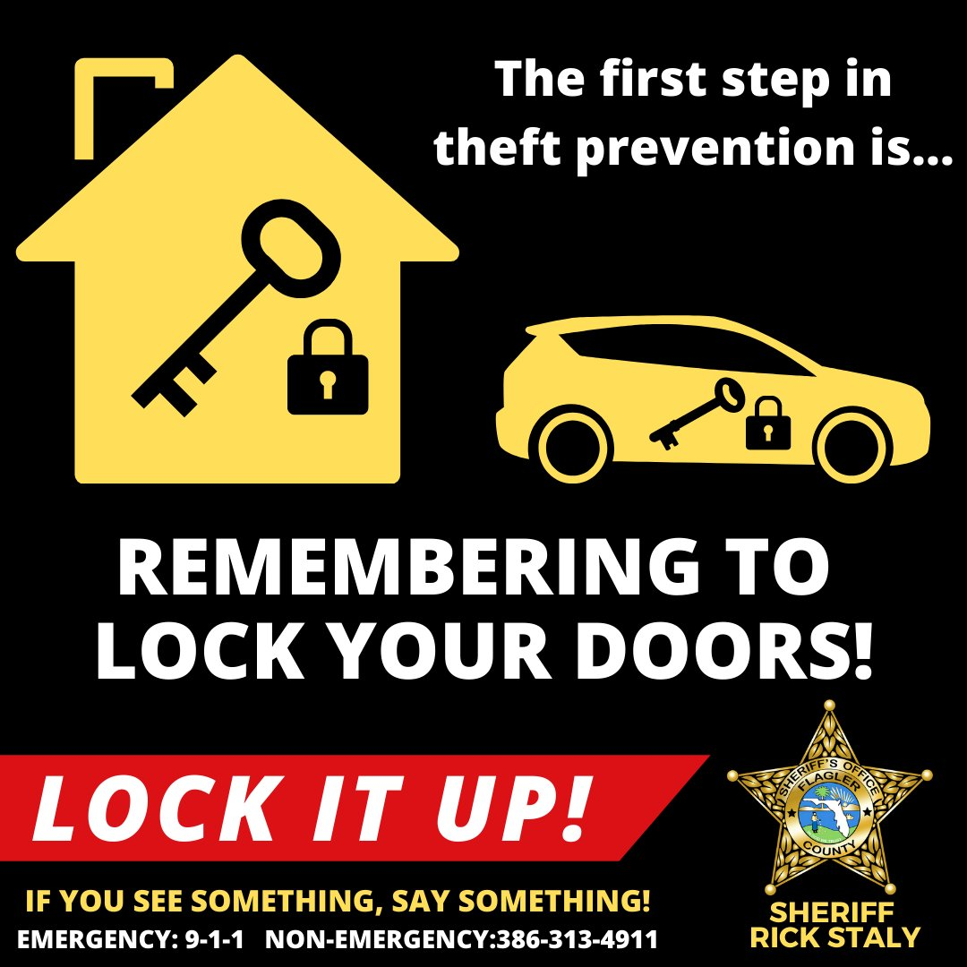 Don't forget to #LockItUp