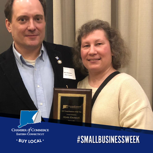 Congratulations to Matthew Beaudoin of @Mysticknotwork for being named CT Small Business Person of the year by @SBAgov! A family tradition since the 1930's, generations of nautical knot artistry led Matt to open Mystic Knotwork in 2008. #SmallBusinessWeek #ShopLocal