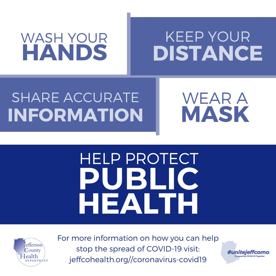 We have utilized funding to purchase materials for #jeffcomo businesses to help foster preventative habits in their places of business. The form at the link below allows a business to request 'Protect Public Health' campaign materials at no cost.