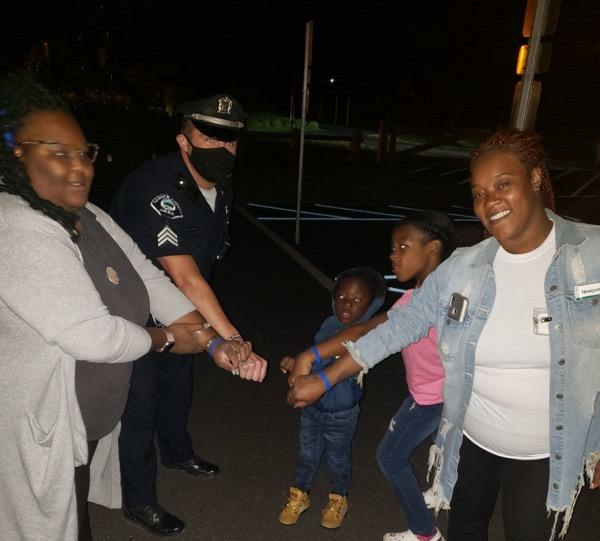 Sgt. Ernest Freestone and some enthusiastic new partners in Morgan Village! #CamdenStrong #StrongerTogether