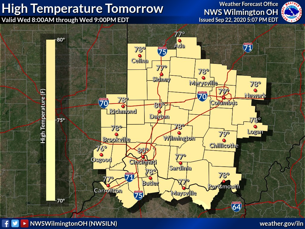 [9:35 PM] Slightly warmer temps are on tap for Wednesday, despite the expectation for a bit more cloud cover filtering in through the next several days. More of the same will evolve for Thursday, with mainly cloudy skies as a mostly-dry disturbance passes through the region.