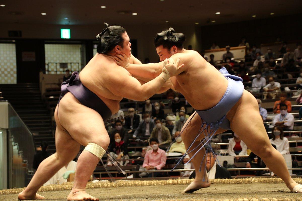 test ツイッターメディア - <十一日目の様子> 幕内取組。翔猿(9勝2敗) 叩き込み 阿武咲(8勝3敗)。2敗同士の取組は、翔猿が勝利。   #sumo #相撲 #9月場所 #秋場所 https://t.co/Kpp4qI70LR